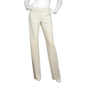 Celine Cream Straight Leg Slacks Pants Sz 36